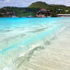 St. Jean is the most popular beach on the island of St. Barths. #stbarts #island