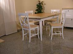 Tavolo fratino in legno allungabile mod fiocco grezzo tavoli allungabili in legno nel 2019 - Decapare un tavolo ...