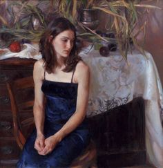 """Waiting"" by Rose Frantzen. http://oldcityhallgallery.com/figurative2.html"