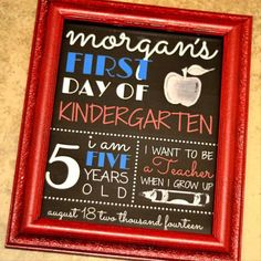 {FREE PRINTABLE} First Day of School Photo Prop Sign by My Paper Craze