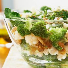 Broccoli-Cauliflower-Raisin Salad