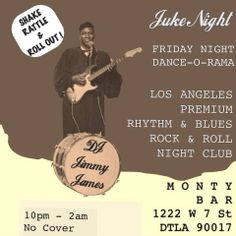 Tonight DJ Jimmy James and Juke Night At Monty Bar! #FirstFriday night of 2014, lets do it right!!