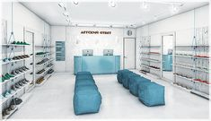 interior design of different stores (2013/14) on Behance