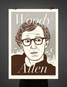 WOODY ALLEN © Patryk Mogilnicki (screenprint).