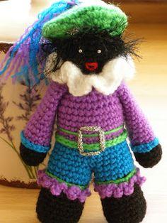 Zwart Pietje gehaakt