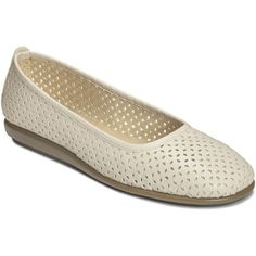 A2 by Aerosoles Solsa Dance Flats (47 CAD) ❤ liked on Polyvore featuring shoes, flats, cutout flats, ballerina flat shoes, ballet shoes, ballet flats and flat pumps