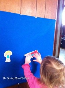 Make your own felt board- Toddler Tuesday