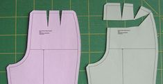 Different ways to lenghten croth in back pants pattern. Some make the hip larger, too.