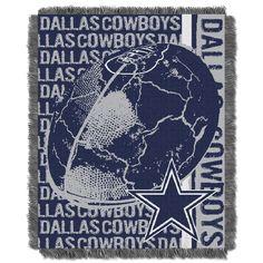 Cowboys 48x60 Triple Woven Jacquard Throw - Double Play Series