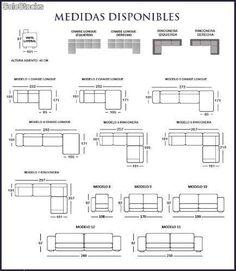 Resultado de imagen para medidas de un sillon de 3 plazas