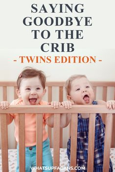 Wondering WHEN to transition twins to toddler beds? When to move twins out of their cribs and into a bed? This post is a great and helpful guide to getting twins to not only transition from crib to toddler bed, but then STAY IN IT!! We all know toddler twins are crazy! Toddler Twins, Twin Toddlers, Toddler Sleep, Baby Sleep, Crib Tent, Crib Rail, Four Kids, Sleep Sacks, Work From Home Moms