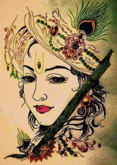 Radha Krishna Images, Lord Krishna Images, Krishna Art, Krishna Pictures, Radha Krishna Paintings, Radha Krishna Sketch, Krishna Lila, Hare Krishna, Ganesha Painting