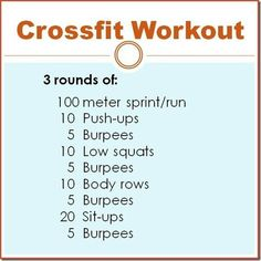 cross fit workout