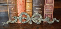 Antique French Large Bronze Bow Hardware Trim by VintageFleaFinds, $40.00