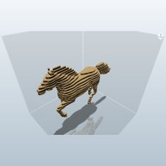 Mustang Horse - Galloping Pose (123D Make)