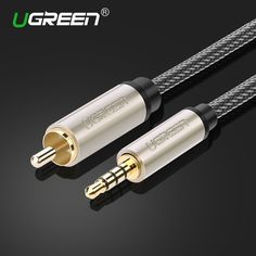 Ugreen Jack RCA Cable Coaxial RCA Male Cable 3.5mm Male to RCA Stereo Audio Cable for Xiaomi TV Amplifer RCA Cable