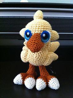 Baby Chocobo Amigurumi Crochet Pattern - FREE