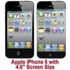 """Apple iPhone 5 suggested screen size of 4.6"""" compared to that of 3.5"""" in iPhone 4S. Apple wants to be in control of the market comparing with Galaxy S3. http://www.mobilesandtablets.co.uk/iphone-4s-or-5-buy-or-wait/"""