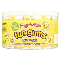 British Fun Gums Retro Sweets: Gummy Fried Eggs: 600 Count (757g)