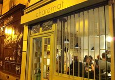 Restaurant Chatomat  6, rue Victor Letalle  Paris (75020)   MÉTRO : Ménilmontant, Père Lachaise & Couronnes  TÉL : +33 1 47 97 25 77