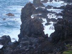 Black Lava Beach, St Kitts Island Caribbean.