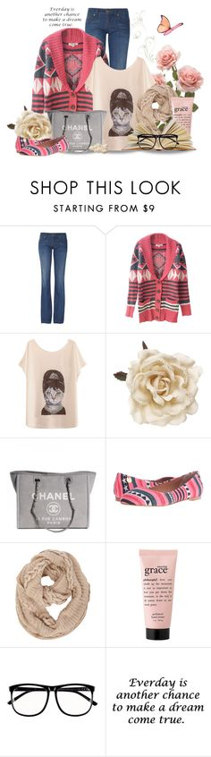 """""""Comfortable"""" by lulurose98 ❤ liked on Polyvore featuring Gucci, Monsoon, Chanel, M Missoni, Dorothy Perkins, philosophy and H&M"""
