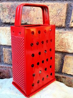Bright Red Grater, Painted Cheese Grater, Kitsch Decor, Red Kitchen Decor, Fun Home Decor