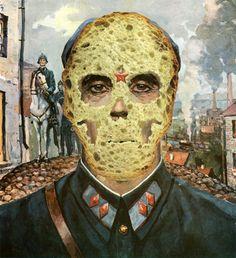 """Saatchi Online Artist Nestow Sakaczbia; Assemblage / Collage, """"Death like a slice of bread"""" #art"""