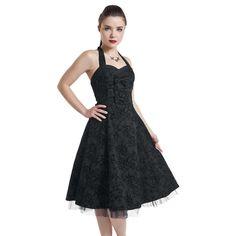 """H&R London Mittellanges Kleid, Frauen """"Long Tattoo Dress"""" schwarz • EMP"""