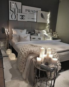 - Architecture and Home Decor - Bedroom - Bathroom - Kitchen And Living Room Interior Design Decorating Ideas - Cute Bedroom Ideas, Cute Room Decor, Girl Bedroom Designs, Room Ideas Bedroom, Home Decor Bedroom, Living Room Decor, Bedroom Inspo, Bedroom Ideas For Small Rooms Women, Stylish Bedroom