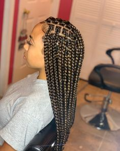 Protective Hairstyles, Cute Box Braids Hairstyles, Braids Hairstyles Pictures, Box Braids Hairstyles For Black Women, Hairstyle Ideas, Fringe Hairstyle, Easy Hairstyle, Wedding Hairstyles, Black Box Braids