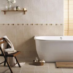 Stunning colours used here with these simple Buxton / Rock tiles for a clean and luxurious end result.