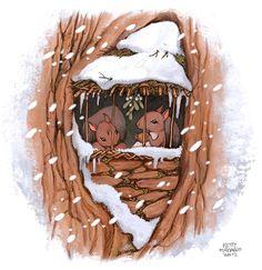 """Lo scoiattolo erborista """"squirrel herbalist""""  winter love   http://kettyformaggio.blogspot.it/2015/10/lo-scoiattolo-erborista.html"""