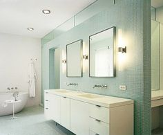 Best Bathroom Vanity Lighting Images On Pinterest Bathroom - Bathroom vanity mirror and light ideas