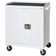 Mobile Tablet Storage Cart with charging hubs is a great tool for the classroom.  Keeps tablets safe and charged for school use.  Mobile Tablet Cart available from Brothers Business Interiors.