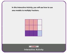 An interactive model for multiplication of fractions