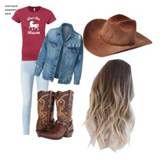 """Country Life"" by raeganoberg ❤ liked on Polyvore featuring art and country"