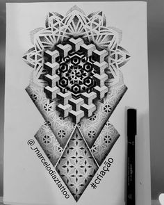 ❌❌Leia through with ❌❌ attention You can make this entirely free tattoo ! For you who likes one pointillism there is your . Geometric Tattoo Pattern, Geometric Mandala Tattoo, Geometric Tattoos Men, Sacred Geometry Tattoo, Mandala Tattoo Design, Best Sleeve Tattoos, Leg Tattoos, Body Art Tattoos, Mandala Tattoo Back