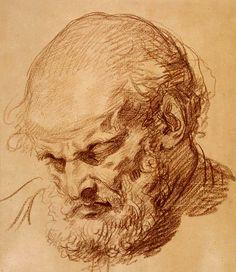 Jean-Baptiste Greuze - Testa di vecchio