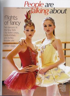 Ashley Bouder and Carla Körbes in Vogue, 2001