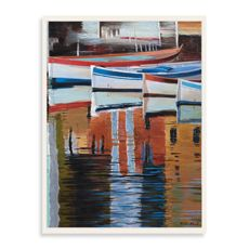 Blooming Boats Wall Art - Bed Bath & Beyond