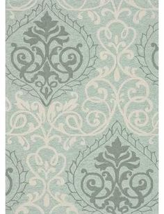 Add a pop of style to your living room or den with this hand-hooked rug, showcasing an oversized damask motif in mist. Design Exterior, Hand Hooked Rugs, Rugs Usa, Textiles, Joss And Main, Grey Rugs, Rug Hooking, Throw Rugs, Rugs Online