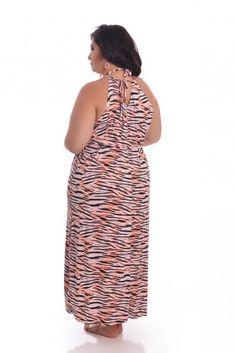 Saída de Praia Tigresa - VK Moda Plus Size