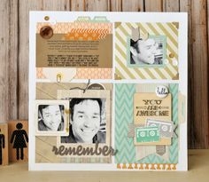 "In-site-full: Memories Made #27 Scrapbooking Process Video: ""Remember Mixed Tapes"""