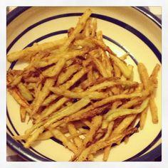 Zucchini Fries by Esther Amigo Zucchini Fries, I Foods, Spaghetti, Ethnic Recipes, Noodle