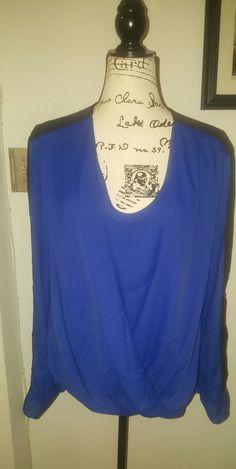 anne klein draped long sleeve top nwot size 16  #AnneKlein #Blouse
