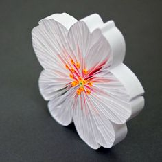 A round up of 40 Inspiring Examples of Paper Quilling includes this Quilled Cherry Blossom in progress by JUDiTH+ROLFE 3d Quilling, Paper Quilling Flowers, Paper Quilling Tutorial, Paper Quilling Designs, Quilling Paper Craft, Quilling Patterns, Paper Crafts, Quilled Roses, Floral Artwork
