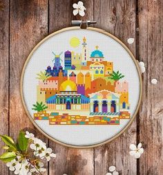 This is modern cross-stitch pattern of Jerusalem for instant download. A cool tip to decorate your living room. You will get 5-pages PDF file, which includes: - main picture for your reference; - colorful scheme for cross-stitch; - list of DMC thread colors (instruction and key section); - list of calculated thread length The size of the picture is 18.51 x 16.51 cm   7.29 x 6.50 inches - 130 X 130 stitches on Aida 14 count It is a digital pattern and will be available to download when the…