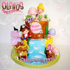 Peter Pan Party, Tinkerbell Disney, Jakarta, Birthday Cakes, Children, Kids, Desserts, Princess, Amazing