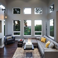 Hilltop House | Grand Vista Subdivision - modern - family room - portland - Jordan Iverson Signature Homes